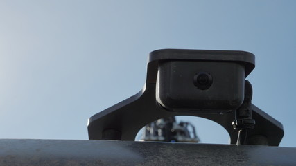 Image of the front view camera of the bulldozer.