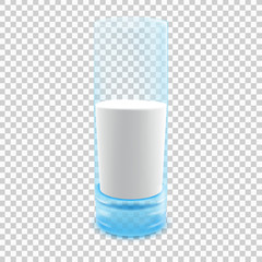 Glass of milk. Illustration isolated on transparent background. Graphic concept for your design