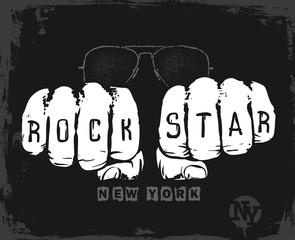rock star graphic design , vector illustration t-shirt print