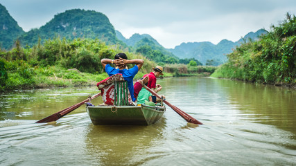 River boat in Vietnam