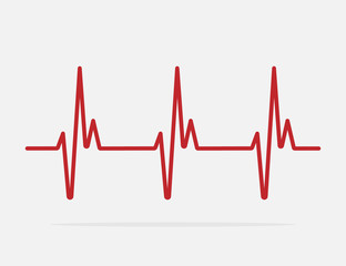 heartbeat line vector icon