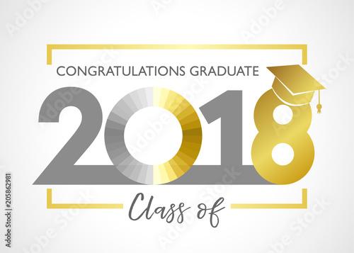 class of 2018 congratulations graduating card class of 2018