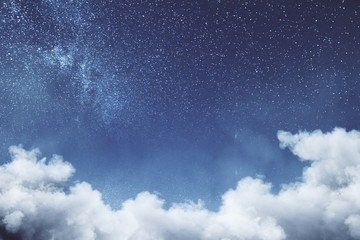 Creative cloud sky texture