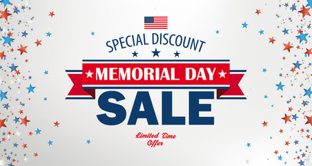 Memorial Day Sale Side Stars Header