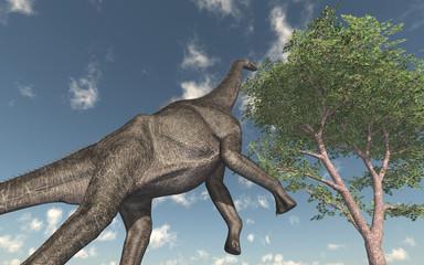 Dinosaurier Brachiosaurus aufrecht stehend