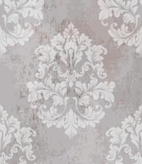 Vintage old paper texture Vector. Luxury baroque pattern wallpaper ornament decor. Textile, fabric, tiles. Nude colors