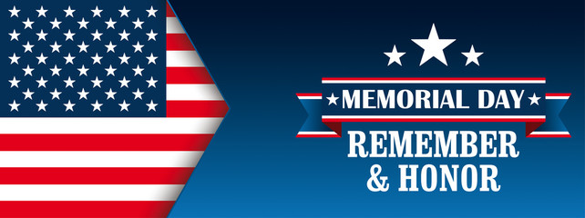 Header Memorial Day Honor USA Flag