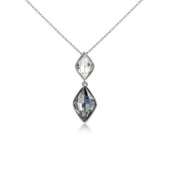 Diamond pendant isolated on white