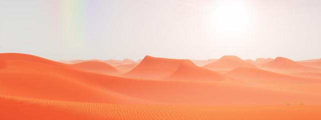 Regenbogen über einer Sandwüste