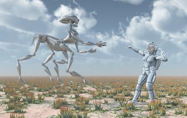 Außerirdisches Leben und Astronautin