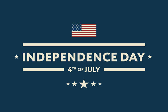 4th of July Independence Day USA Flag Greeting Card Patriotism Banner Wallpaper Background.