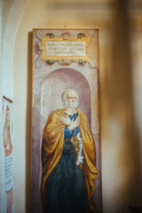 painting of St. Peter, Abbey church of Sesto Calende, Lombardy, Italy