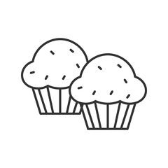 Cupcakes linear icon