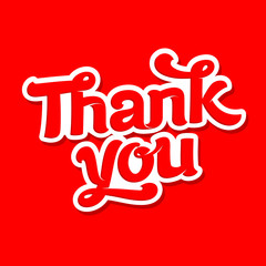 Thank you card vector image. Simple words of gratitude