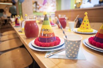 Attributes of children's holiday. Children's birthday party.