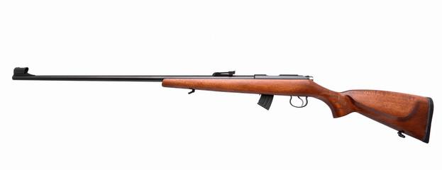 Gun rifle isolated on white