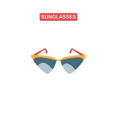 Sunglasses icon or sign, vector illustration.