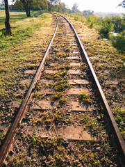 Abandoned train tracks in Paso de los Libres, Argentina