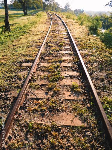 Abandoned train tracks in Paso de los Libres, Argentina
