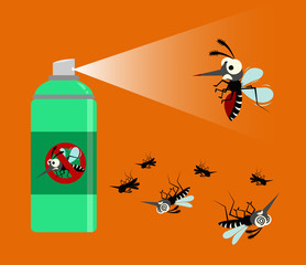 mosquito spray protection. vector illustration.