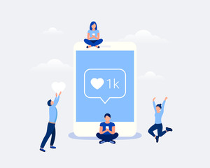 Social media design concept.