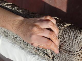 Henna design on a girl's hand