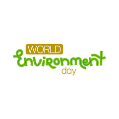 World environment day. Creative hand drawn lettering. Save nature. Eco friendly design. It can be used for banner, poster, invitation, card, brochure. Vector illustration, eps10