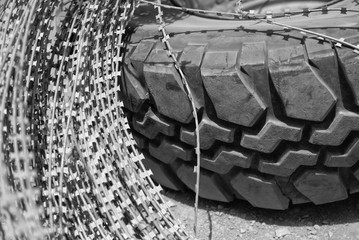 Tire and wire
