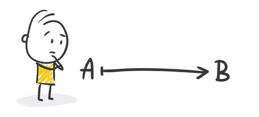 Strichfiguren / Strichmännchen: Weg, Ziel. (Nr. 231)