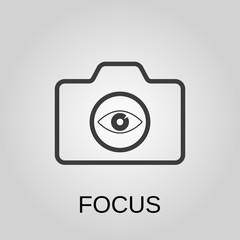 Focus icon. Focus symbol. Flat design. Stock - Vector illustration