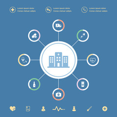 Medical icons infographic set in vector format.