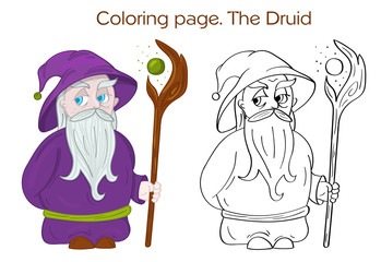 The Druid Character Coloring page