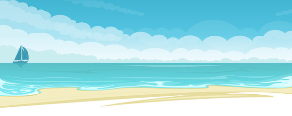 Vector seascape background