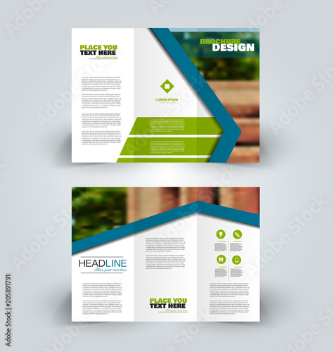 brochure template business trifold flyer creative design for