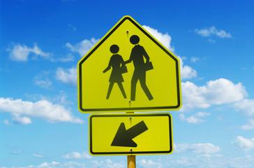 School Crossing Street Sign