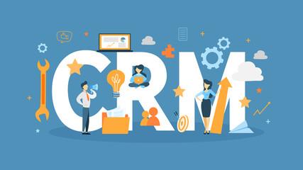 CRM concept illustration.