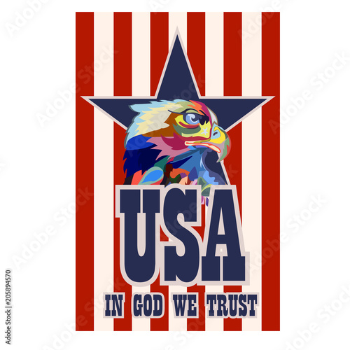 Abstract Image Of An Eagle A Symbol Of The United States Stock