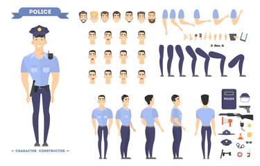 Policeman character set.