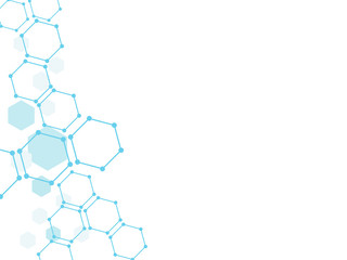 Abstract hexagon technology background.