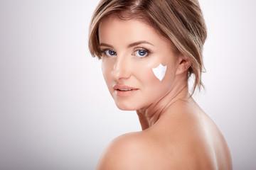 Skin care concept in average age