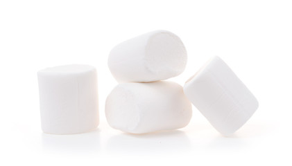 Group of Marshmallows isolated on white background