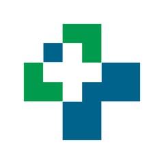 Cross logo. medical icon. healthcare Symbol. vector 08.