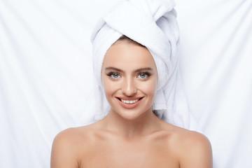 Beautiful girl in spa