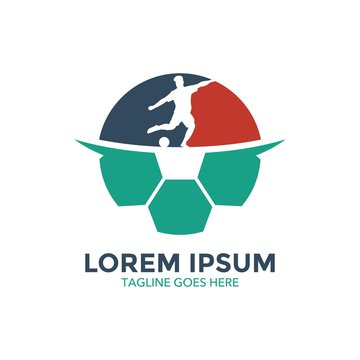 Unique badge soccer logo vector design. icon. vector illustration