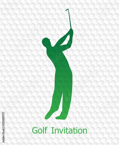 Golf invitation flyer template graphic design stock image and golf invitation flyer template graphic design stopboris Choice Image