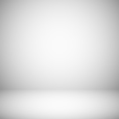 Empty white and gray light studio room interior. 3d plain grey soft gradient vector background