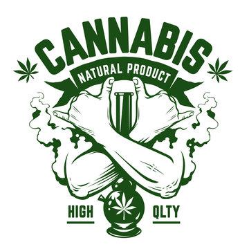 Cannabis Vector Emblem