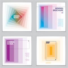 Brochure Design Templates minimal design. Modern Geometric Abstract vector backgrounds set. Simple shapes minimal geometric illustrations.