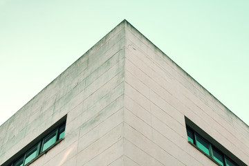 Abstract architecture. Close up of building facade
