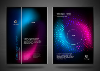 Design covers for business catalog, annual report, magazine, flyerp or booklet in A4 format for business, construction, medicine and new technologies